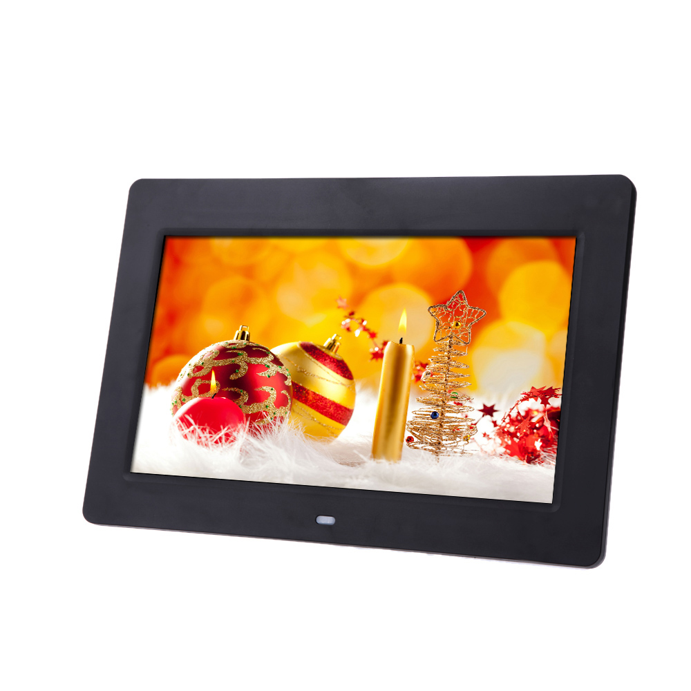 US STOCK 10inch HD TFT-LCD 1024*600 Digital Photo Frame Picture Frame Clock MP3 MP4 Movie Player with Remote Desktop black(China (Mainland))