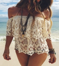 Beach Tunic Sexy Swimwear Cover Up Women beach cover up blouse Crochet Pareo Swimsuit coverups Summer Women Beach wear