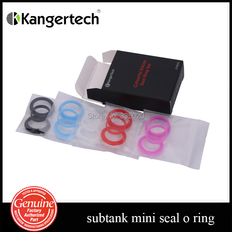 Гаджет  Original Kanger Subtank Mini Seal Ring Set Silicone Slip O Ring 5 Colors for Subtank Mini Atomizer in stock None Бытовая электроника