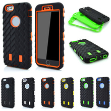 "For Coque apple iPhone 5C Case 4.0"" Dual Layer Shockproof Case 2 in 1 Tire Style Silicone + Hard Plastic Armor Hybrid Cover(China (Mainland))"