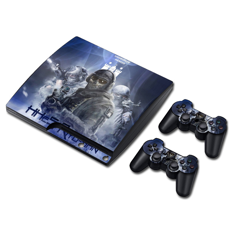 Halo 5 Vinyl Skin Sticker for sony playstation 3 slim protective cover decal for jogos ps3 for mandos ps3 skin sticker(China (Mainland))