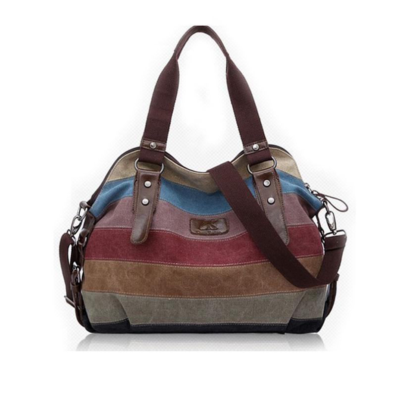 2015 Canvas handbags top quality women shoulder bags designer totes casual shoulder bag messenger bag color block large totes(China (Mainland))