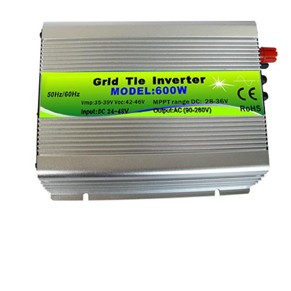 24-48V DC input 90-260V AC output 600W Islanding Protection Pure Sine Wave Mppt Control Single Phase Solar Grid Tie Inverter(China (Mainland))