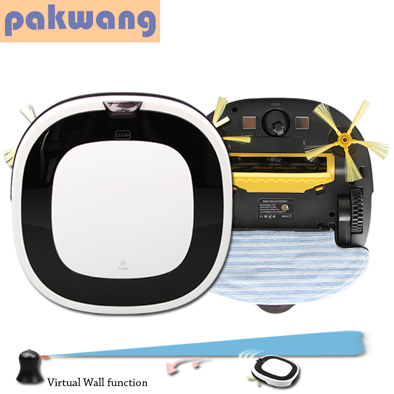 Pakwang cordless vacuum cleaner dry and wet vacuum cleaners white D5501 mopping robot mini vacuum cleaner(China (Mainland))