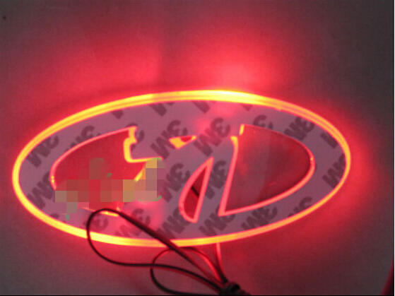 Lada Waterproof 3D LED Auto accessories logo light Car Badge Rear Emblem Running lamp car stickers
