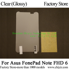 Clear Glossy Screen Protector Guard Cover protective Film For Asus FonePad Note FHD 6 ME560CG