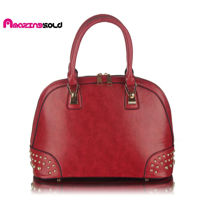European Fashion Women Bags Cross Flow Rivet  Shell Bag All-Match Women Messenger Bag <br><br>Aliexpress