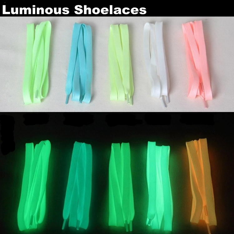 fashion shoelace glow in the dark casual sports flats shoes Laces Length 100cm Multi Color Night Luminous Shoestrings K18<br><br>Aliexpress