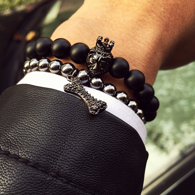 Новый стиль Будда Браслет бренд мужской браслет натуральный камень бисер браслет ...
