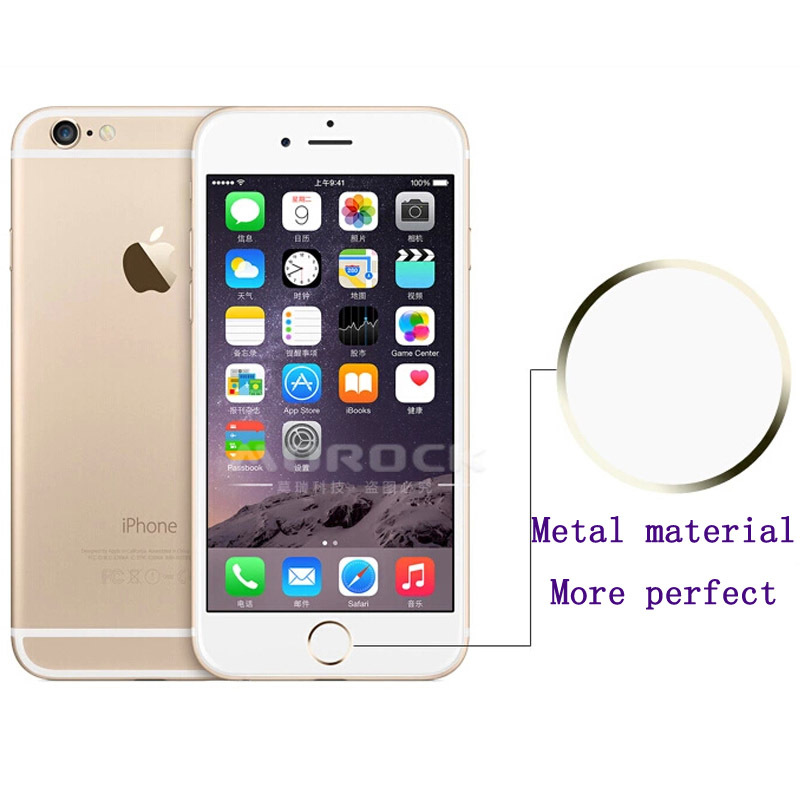 2016 New Touch ID Button Aluminum Home Button Sticker for iPhone 5s for iPhone 6 4.7 & Plus With Finger Identification Function