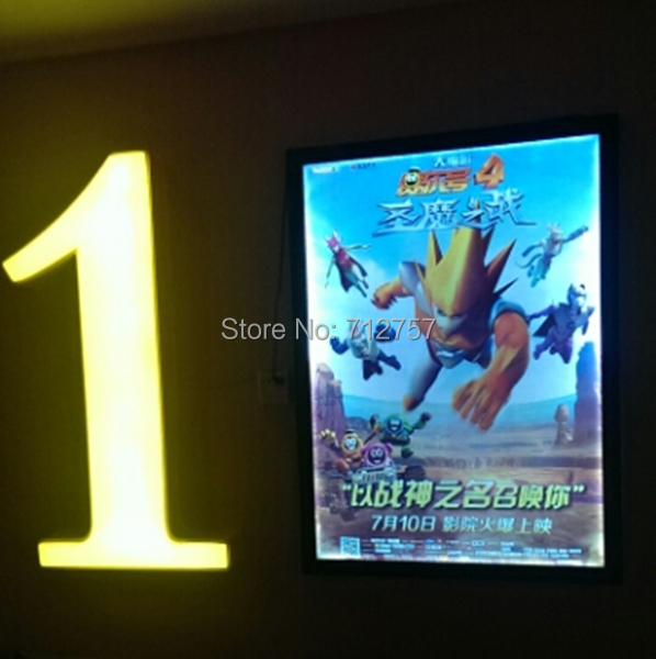 18x24 movie poster led light box display frame store