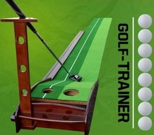 Professional Golf Green Trainer Indoor Solid Wood Golf Putter Trainers High Grade Golf Training Aids 30 x 300CM Free Shipping