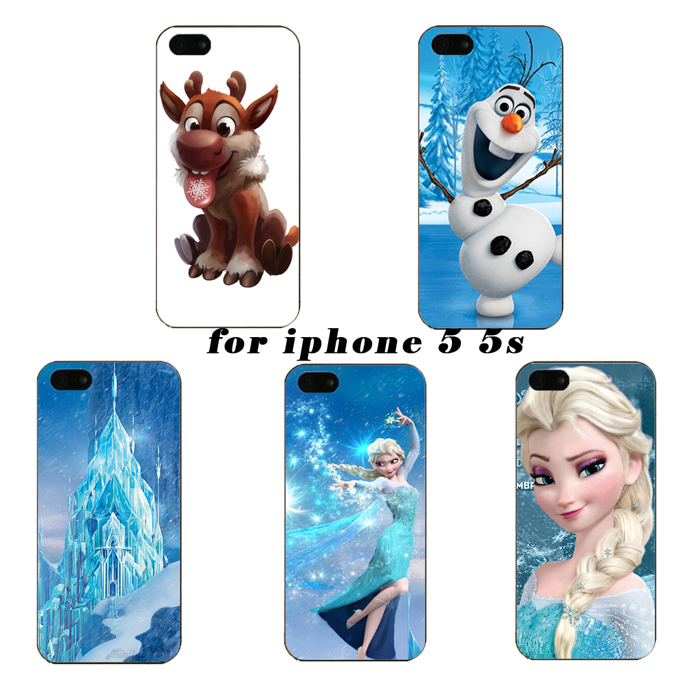 About Beautiful Elsa skin design custom hard plastic mobile phone case for iPhone 5 5s free shipping(China (Mainland))