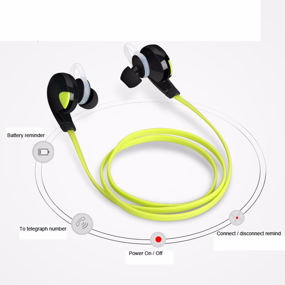 Brand New Stereo Bluetooth Earphone Wireless Handfree Earset Stereo Earphone Sport Universal For All Phone Noise Cancelling
