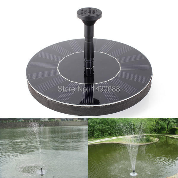 2014 New High Quality 7V Floating Water Pump Solar Panel Garden Plants Watering Power Fountain Pool(China (Mainland))