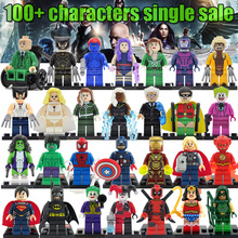 Latest Minifigures For Individually Sale Marvel DC Super Heroes Avengers Batman Single Building Blocks Set Model legoelieds Toys(China (Mainland))