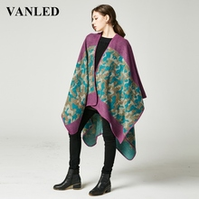 Vanled Women Winter Thickness Cashmere-Like Poncho Leopard Camouflage Designer Scarf Pashmina Tippet Ladiesvintage Neckerchief(China (Mainland))