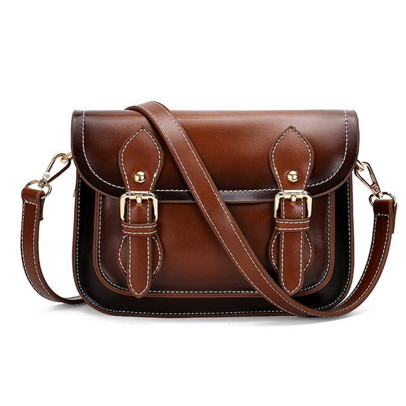 New Vintage Women Leather Handbag Cross Body Shoulder Messenger Bags Casual Envelope Women Bags Handbag Bolosa(China (Mainland))