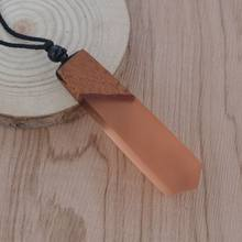 Leanzni Vintage men'woman s fashionable wood resin necklace pendant, woven rope chain, hot - selling jewelry gifts(China)