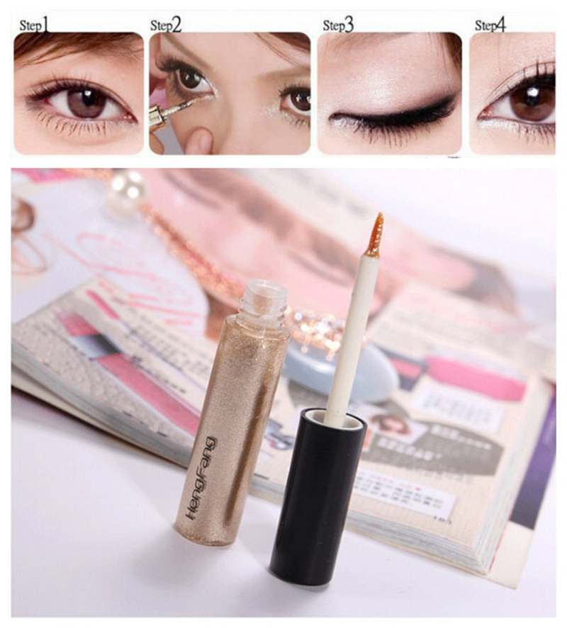 Women's Cheap Liquid Eyeliner Shimmer Eyeliner gel Glitter Radiant Makeup Cosmetic products High Quality