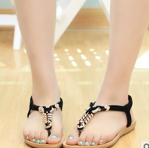 Female summer, flat sandals, 2015 new summer in Europe and America with flat sandals, women with flat thong sandals<br><br>Aliexpress