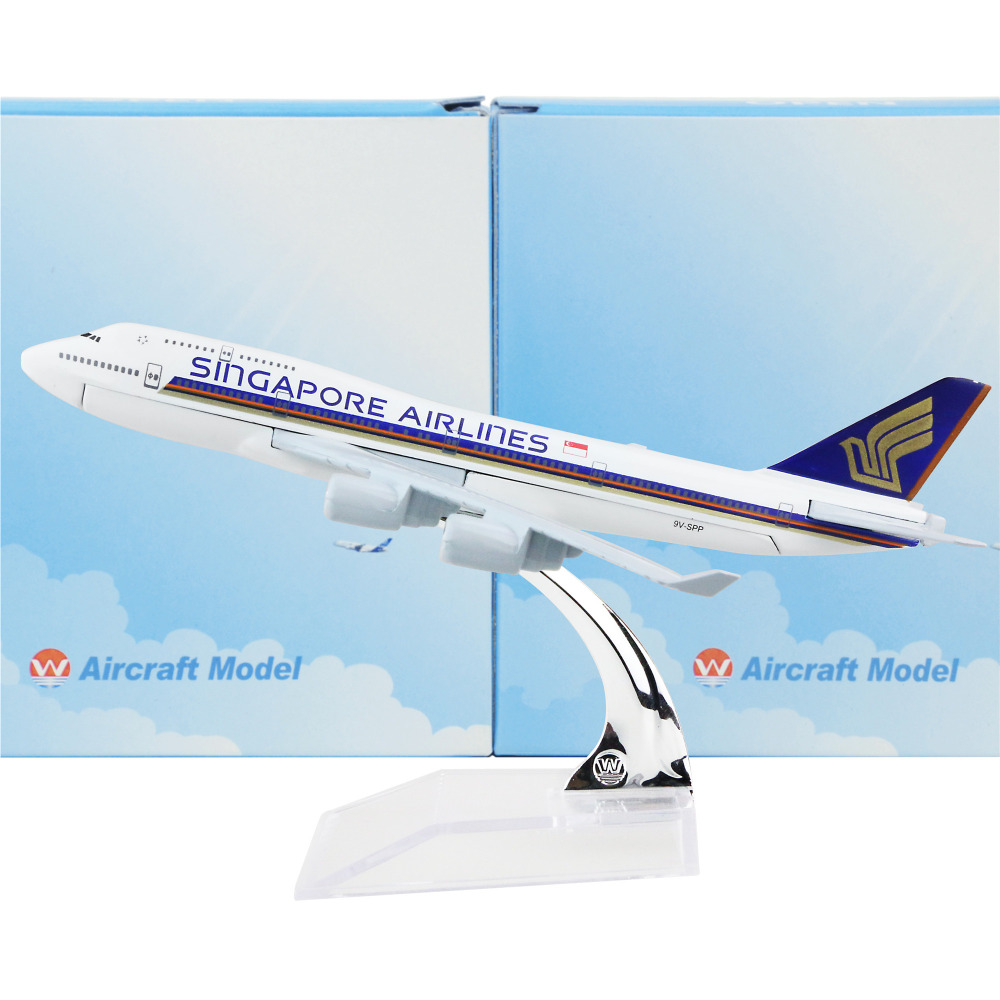 Singapore Airline Boeing 747 16cm model airplane kits child Birthday gift plane models toys Christmas gift(China (Mainland))