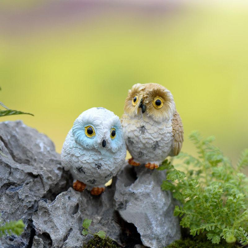Artificial Animal Owl Miniature Fairy Garden Home Houses Decoration Mini Craft Micro Landscaping Decor DIY Accessories(China (Mainland))