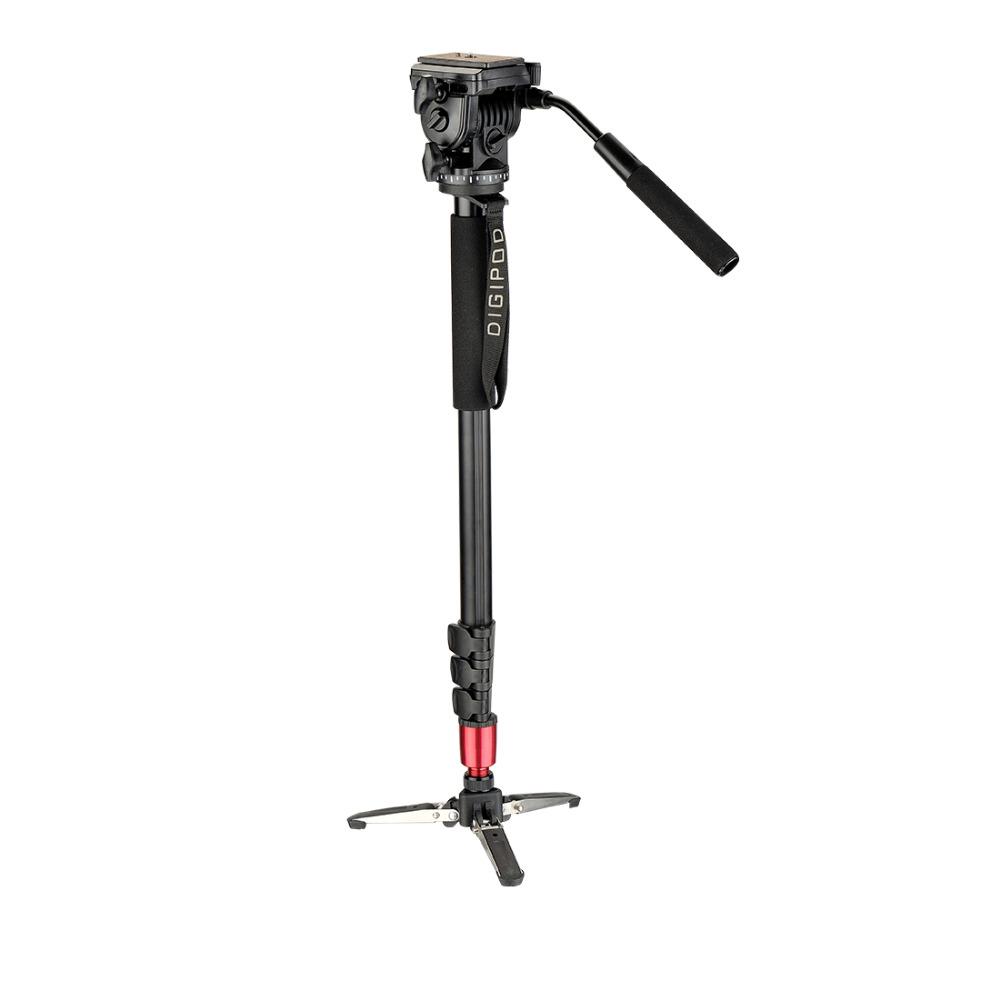 DIGIPOD 69inch Camera Monopod Photography Aluminum Fluid Video Head with Folding Three Feet Support Stand / Mini Tripod MP-274VH(China (Mainland))