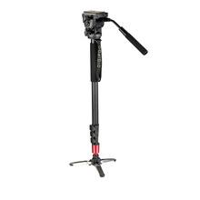 DIGIPOD 69inch Camera Monopod Photography Aluminum Fluid Video Head with Folding Three Feet Support Stand / Mini Tripod MP-274VH