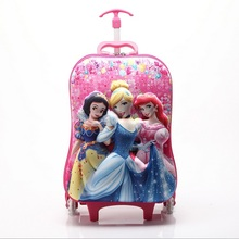 "HOT!16"" Variety of cartoon 3D extrusion EVA Pull rod box kids Climb stairs luggage suitcase Travel cartoon child trolley case(China (Mainland))"