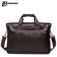 Bostanten 2017 New Fashion Genuine Leather Men Bag Famous Brand Shoulder Bag Messenger Bags Causal Handbag Laptop Briefcase Male(China (Mainland))