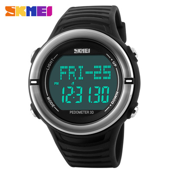 Heart Rate Monitor Sport Watch Men Digital LED SKMEI 1111 Alarm Chronograph Waterproof Back Light Stop Watch Auto Date Silicone