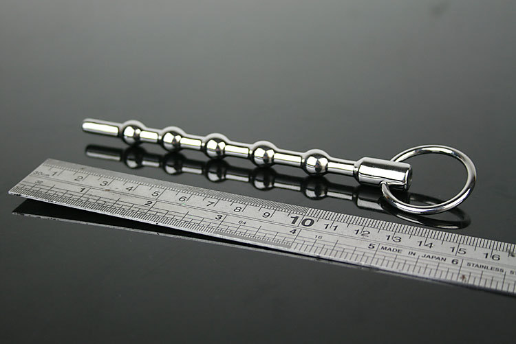 2015 Sale Sex Toy Total Length:130mm Effective Length: About 120 Mm Ball Diameter: 10mm Hole 5.5mm Ring:27mm Urethral Sounds(China (Mainland))