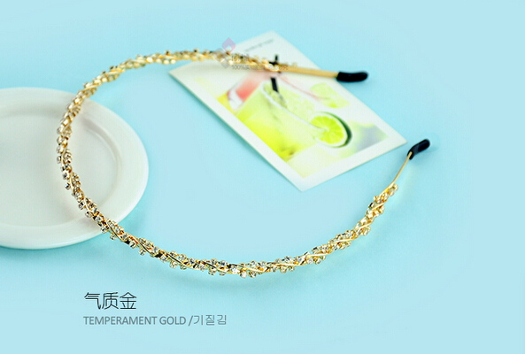 Fashion Handmade Crystals Rhinestone Wedding Hairbands Hair Accessories Party Bridal Headpiece(China (Mainland))