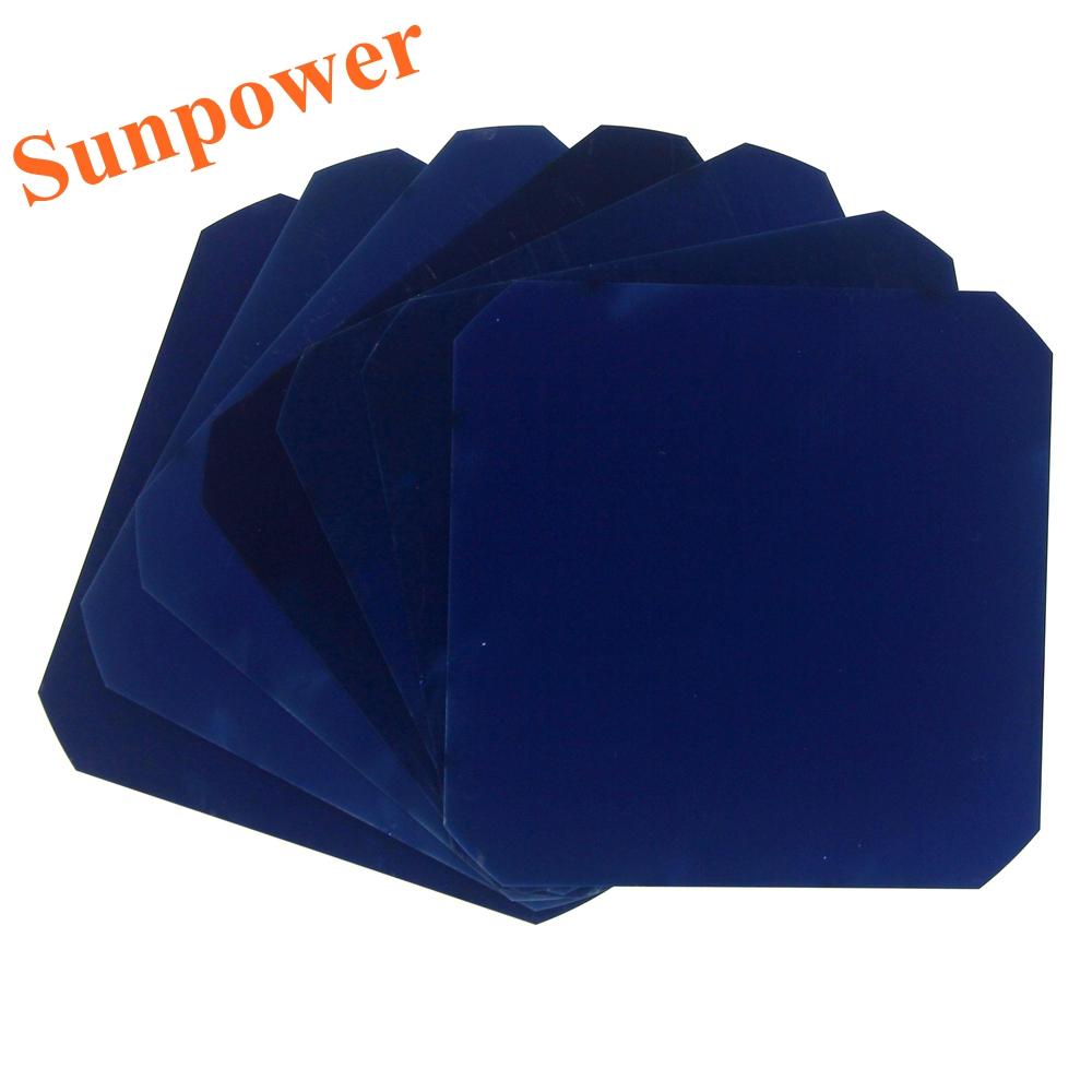50 шт. 3.2 Вт 125 мм гибкая Maxeon Sunpower солнечных батарей C60 монокристаллического кремния для DIY ру панели солнечных батарей