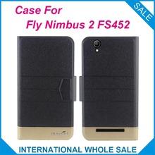 5 Цвета Hot! Fly FS452 Nimbus 2 Случай, 2016 Высокое качество новый стиль флип кожаный чехол Для Fly Nimbus 2 FS452 Крышка телефон Мешок(China (Mainland))