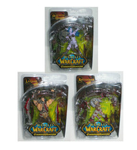 Popular Online Games WOW Garage Kits DC5 Generations Human Kings Elf Archer Ghoul Action Figure 3 In 1