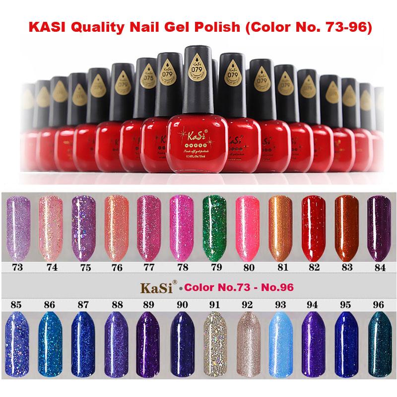 KASI Quality Glitter Nail Gel Polish, 73 96, No Smell Non