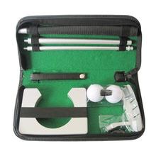 Portable Travel Indoor Golf Putting Practice Kit Ball Putter Training Set Golf Tranning Aids US#V(China (Mainland))