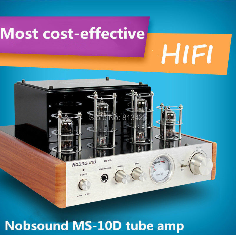 Nobsound MS-10D tube amp home audio hifi stereo Most Cost-effective amplifier excellent sound with Headphone support 100V-240V(China (Mainland))