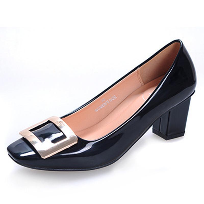 Фотография 2016 women pumps sexy high heels genuine leather brand woman wedding valentine shoes sapatos femininos salto alto
