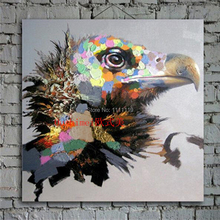 Wall Art Eagle Painting Hand Painted Knife Animals Pictures On Canvas Oil Painting Hand Paintings Hang Picture For Living Room