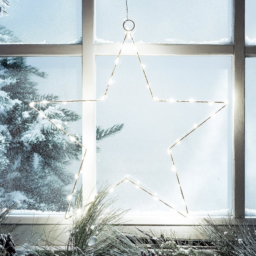 LED Star Curtain Lights,2 Sets Battery Copper Wire Light,String Light for Outdoor,Home,Fairy Garden,Wedding,Xmas Tree,Christmas(China (Mainland))
