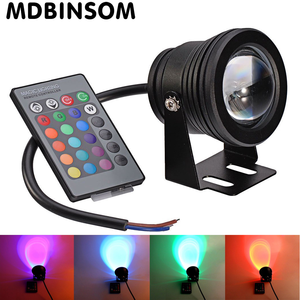 IP68 10W 12V Swimming Pool Led Light Underwater RGB 1000LM Waterproof Fountain Light 16 Color Change with Remote Controller Lamp(China (Mainland))
