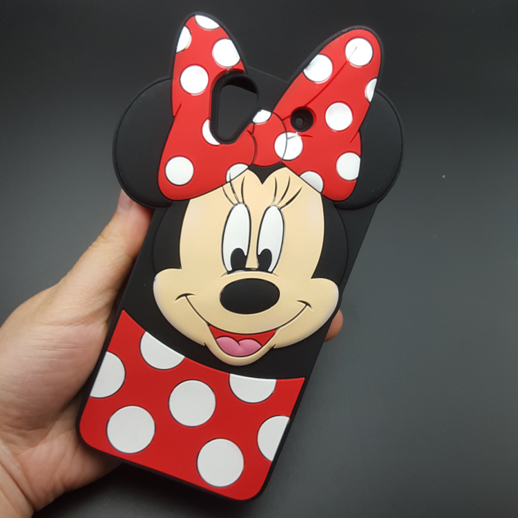 Cute 3D Cartoon Mickey Minnie Mouse bow-knot Soft Silicone Case For HTC Desire 626 626G Rubber Shell Cover phone cases(China (Mainland))