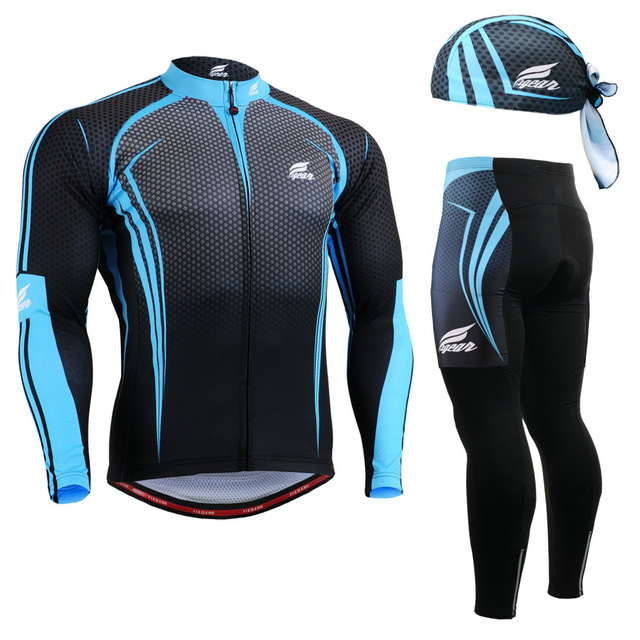 Фотография Life on Track Men MTB Road Bike Bicycle Winter Warm Long Sleeve Jacket Sets Suit Cycling Riding Windproof Breathable Clothing