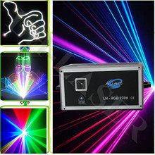Free shipping 5W RGB Animation Laser Stage Disco Party Stage lights with ILDA and 45Kpps Scanner(China (Mainland))
