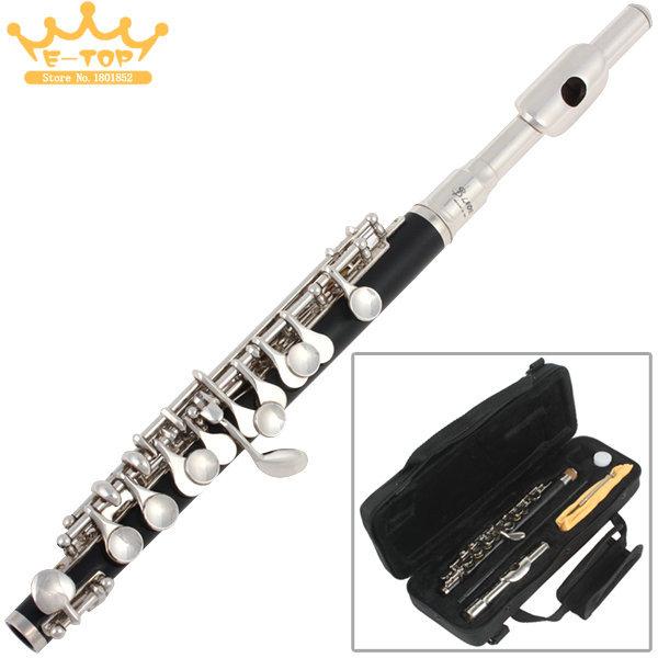 Exquisite Shine Silver + Black C key Tone Metal Head Piccolo Flute with Precise Keys<br><br>Aliexpress