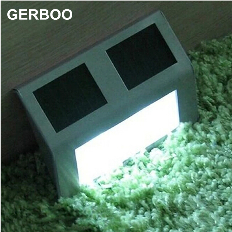 GERBOO Super Bright Yard Lamp Solar Panel Garden Light 3 LED Lights Outdoor Home Decor Deft Design Garden Fence Solar Light(China (Mainland))