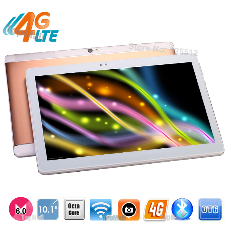 Wholesale Best 10 inch 3G WCDMA 4G FDD LTE Tablet PC Android 6.0 Phablet Octa Core 4G RAM 64GB ROM 8.0MP GPS Tablet 10 10.1+Gift(China (Mainland))